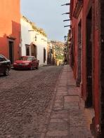 Cobblestone streets make walking tricky.