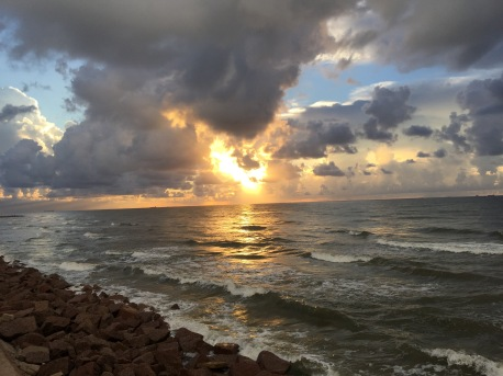 Galveston, TX, sunrise