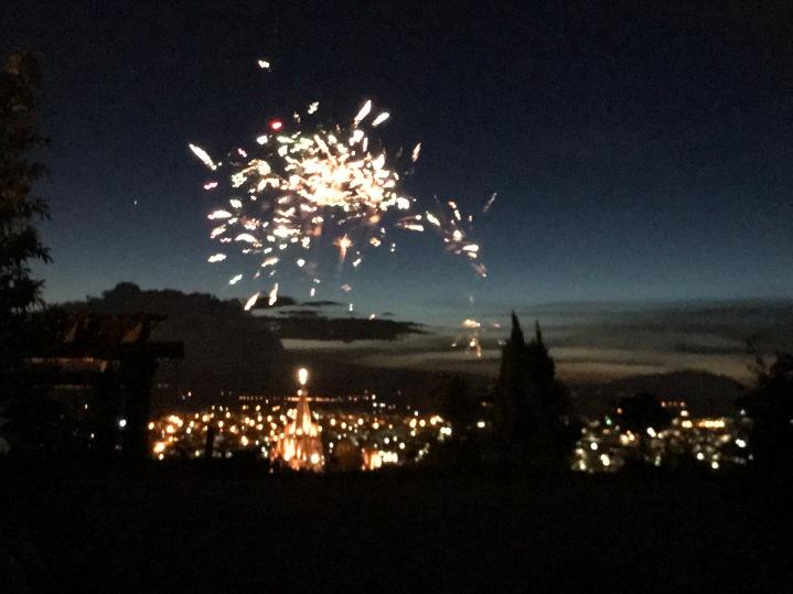 Fireworks over El Centro.